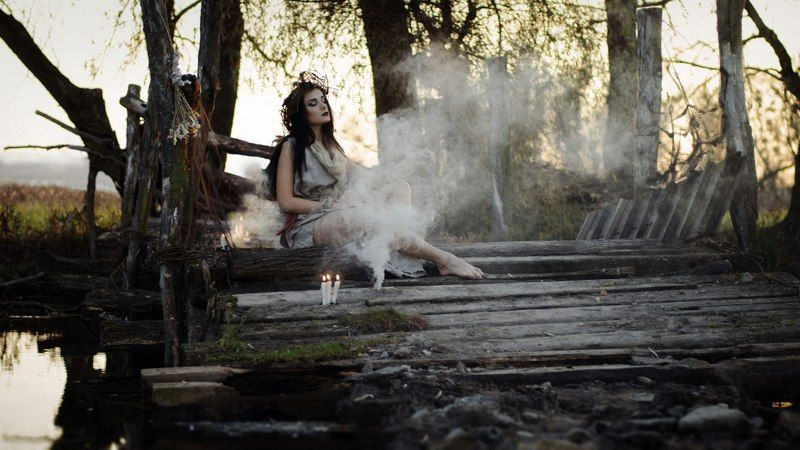 Girl, Smoke, Witch photo preview