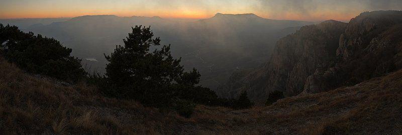 демерджи, крым, осень, закат, горы Закат на Демерджиphoto preview