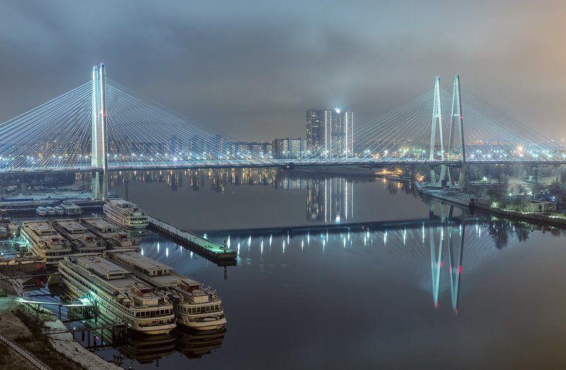 Вантовый мост, Городской пейзаж, Нева, Пейзаж, Питер ***photo preview