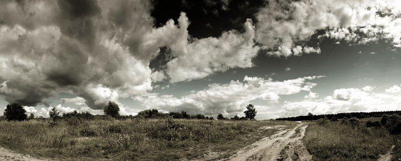 дорога, поле, облака дорога, поле, облакаphoto preview