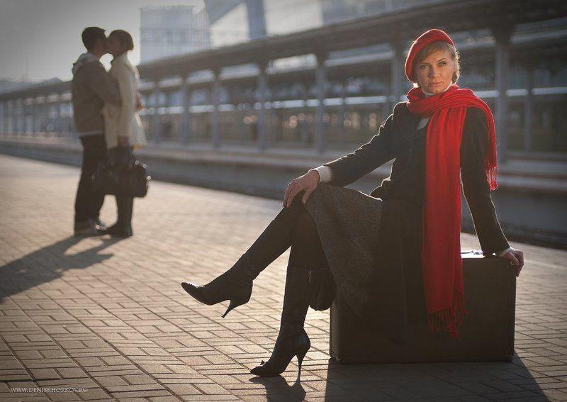 вокзал, девушка El camino primaveralphoto preview