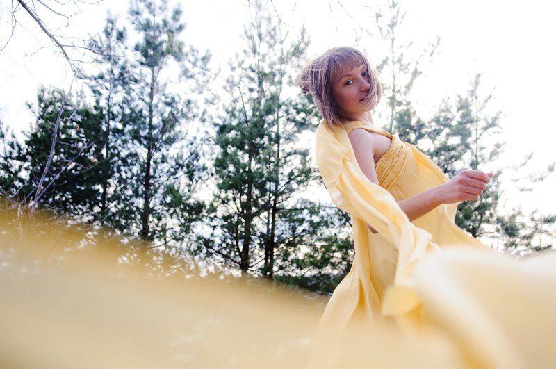 девушка, ветер, платье, весна windphoto preview