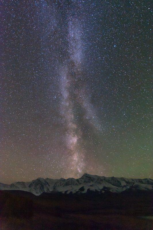 Горный алтай, Млечный путь, Северо-чуйский хребет Млечный путь над Северо-Чуйским хребтомphoto preview
