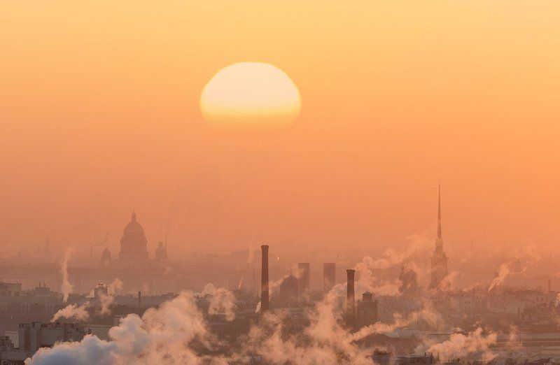 Город, Городской пейзаж, Закат, Зима, Питер photo preview