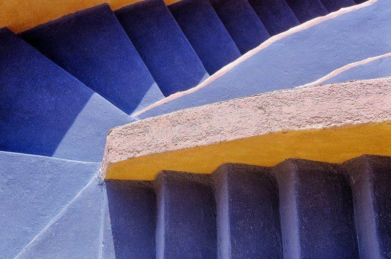 Architettura, Blugiallo, Colori, Gradini Scaliniphoto preview