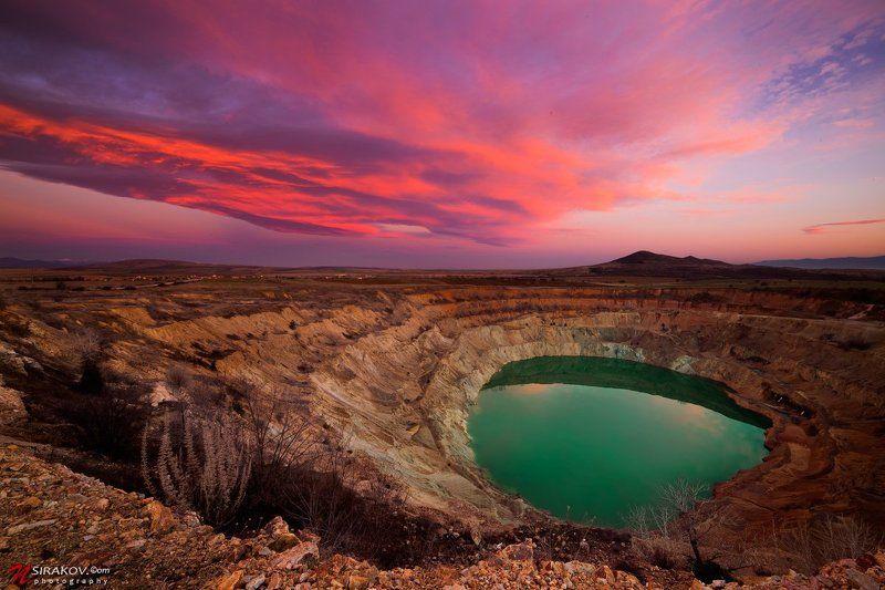 Copper mine, Landscapes, Sunset Мертвое озероphoto preview