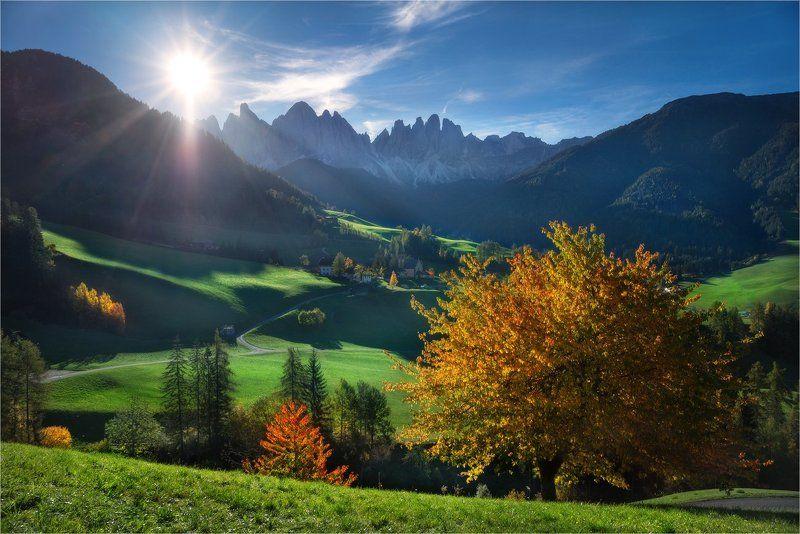 Доломитовые альпы, Италия, Пейзаж \