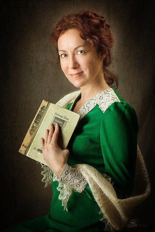 Портрет с книгойphoto preview