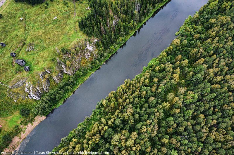 аэросъемка, река, чусовая Над Чусовойphoto preview