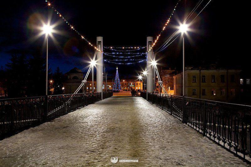 Мост, Пешеходный, Торжок Пешеходный мост в Торжкеphoto preview