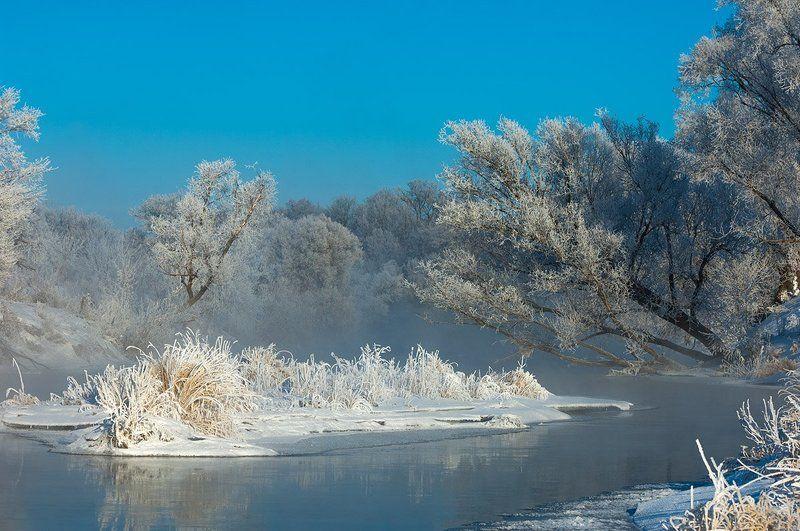 Вода, Зима. Иний, Снег *******photo preview