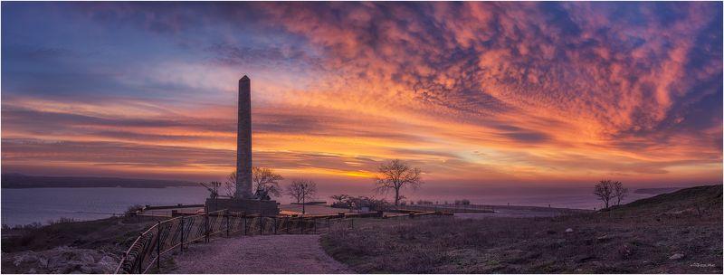 Керчь, Крым, Море, Облака, Панорама, Пейзаж, Рассвет, Черное море photo preview