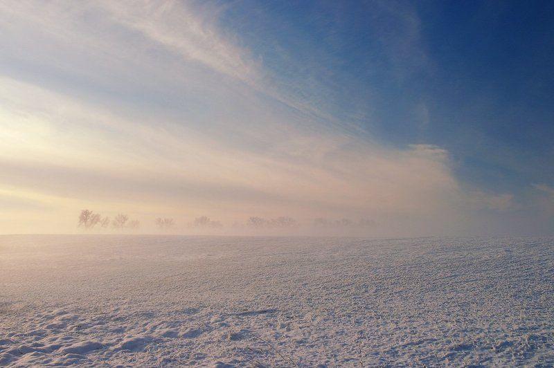 Зима, Снег, Туман Fata Morganaphoto preview