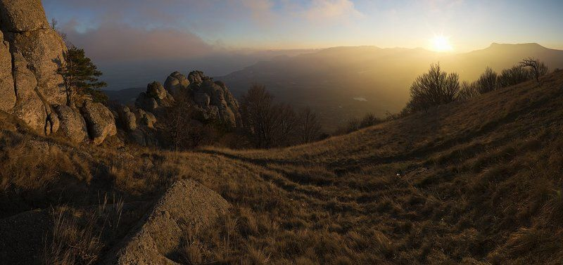 горы, демерджи, закат, крым, осень *****photo preview