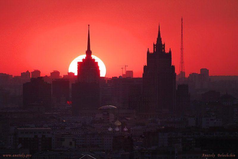 Закат, Москва Москва. Закат.photo preview