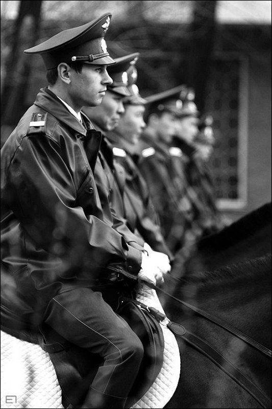 репортаж, 1 мая, милиция, лошади Конная милицияphoto preview