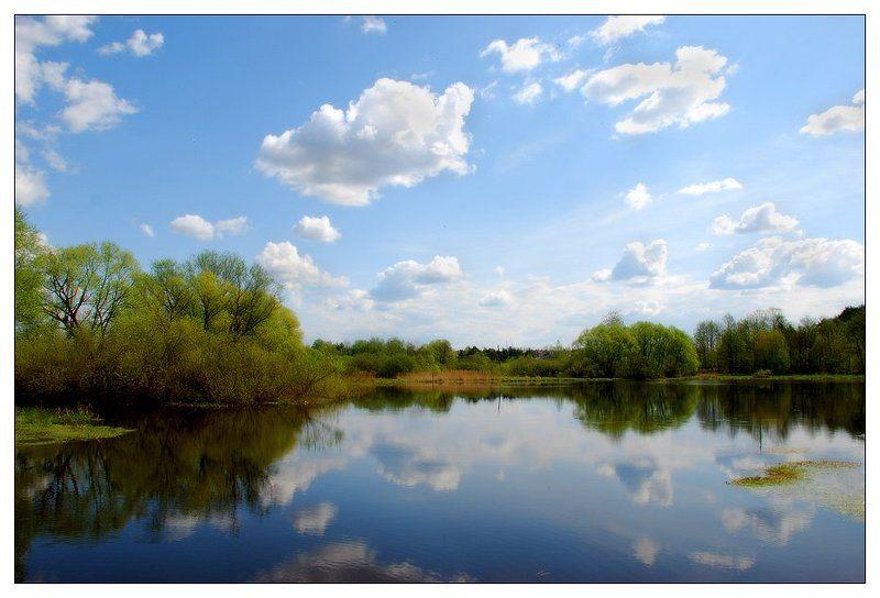 пейзаж, лето, река, облака, май Один день в мае...photo preview