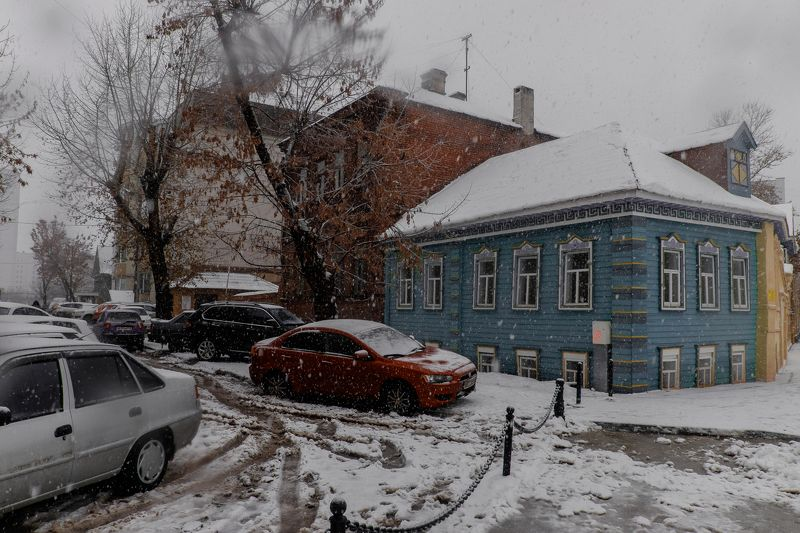 снег, город Снегопад в Казаниphoto preview
