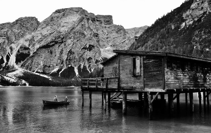 lago,montagna,natura,barca,turismo Braiesphoto preview