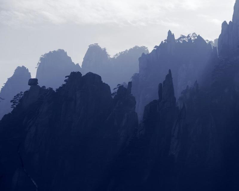 Горы, Китай, Скалы, Хуаншань ***photo preview