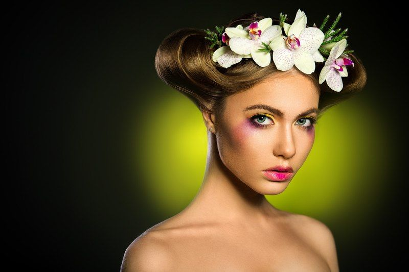 flower, woman, portrait, studio,  Flower girlphoto preview