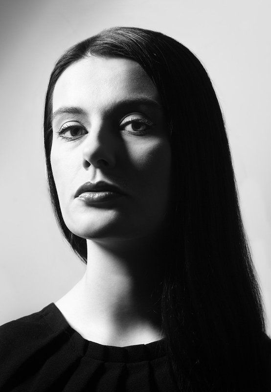 Девушка, Жесткий свет, Портрет, Чб Дарьяphoto preview
