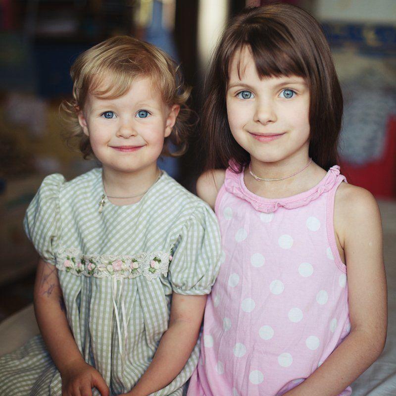 дочки, девочки, портрет, детство Моиphoto preview