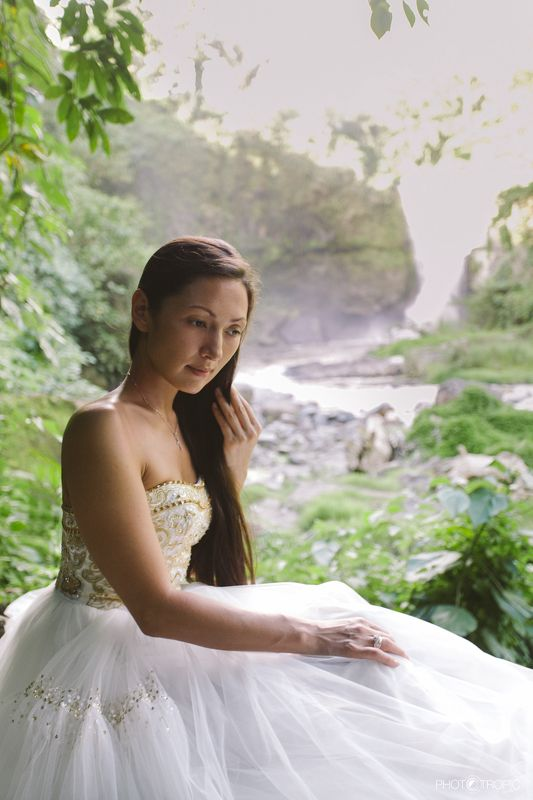 путешествие, свадьба, невеста, образ, девушка, платье, елен цай, elen tsay, бали, wedding, счастьее, нежность, любовь, азиатка, грация, красота, водопад,  ....светлая нежность...photo preview