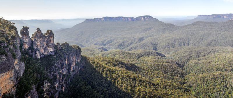 NSW, Австралия, Горы, Лес, Пейзаж, Природа Три сестрыphoto preview