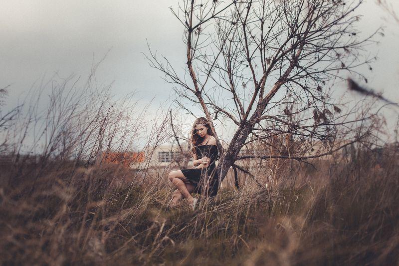 девушка, платье, весна, деревья Алинаphoto preview