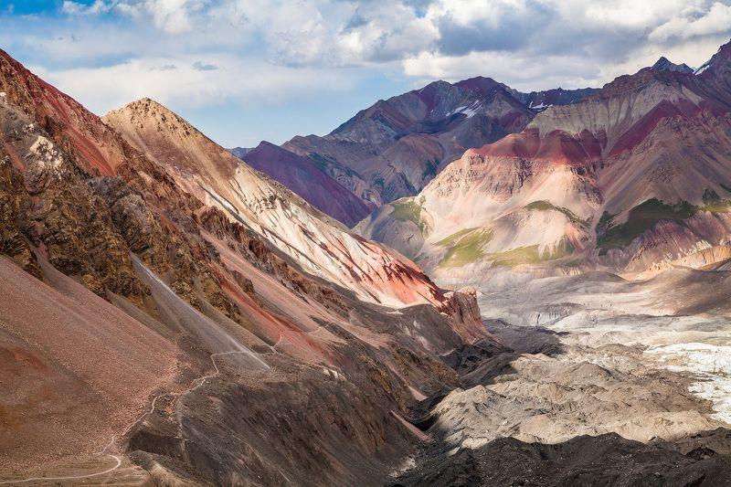 Памир, горы, цвет, небо, Киргизия, Кыргызстан, пик Ленина Цвета Памираphoto preview