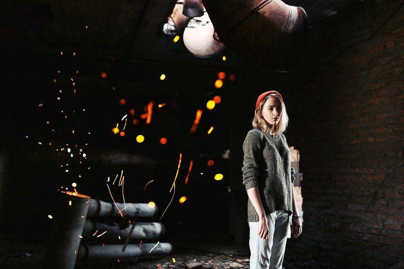 35 мм, Film, Fire, Girl, Portrait Искраphoto preview