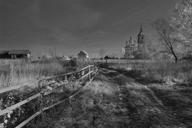 Деревня, Пейзаж, Храм Огородыphoto preview