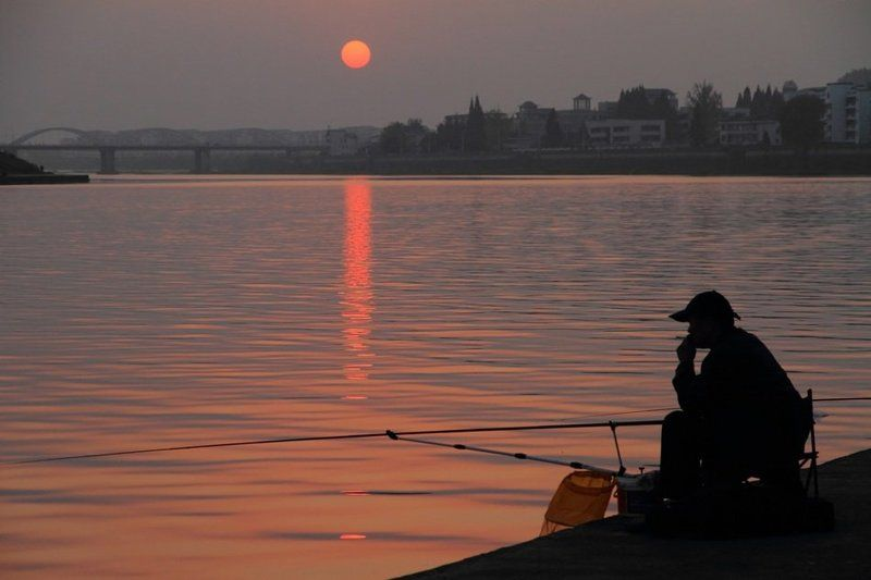china, river, sunset, silence ***photo preview