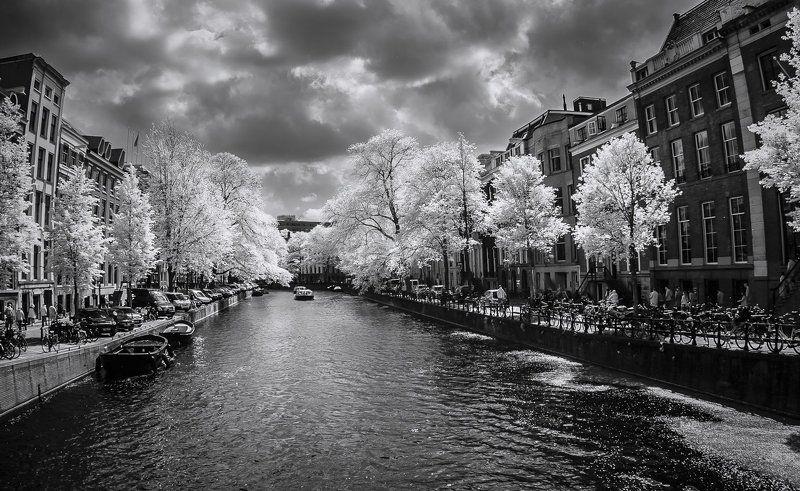 Amsterdam, IR, Netherlands, Амстердам, Голландия, Город, Городской пейзаж, Канал IR Amsterdamphoto preview
