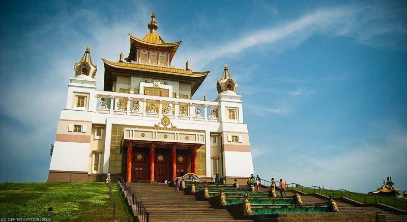 хурул, город, элиста, буддизм Золотая обитель Будды Шакьямуниphoto preview