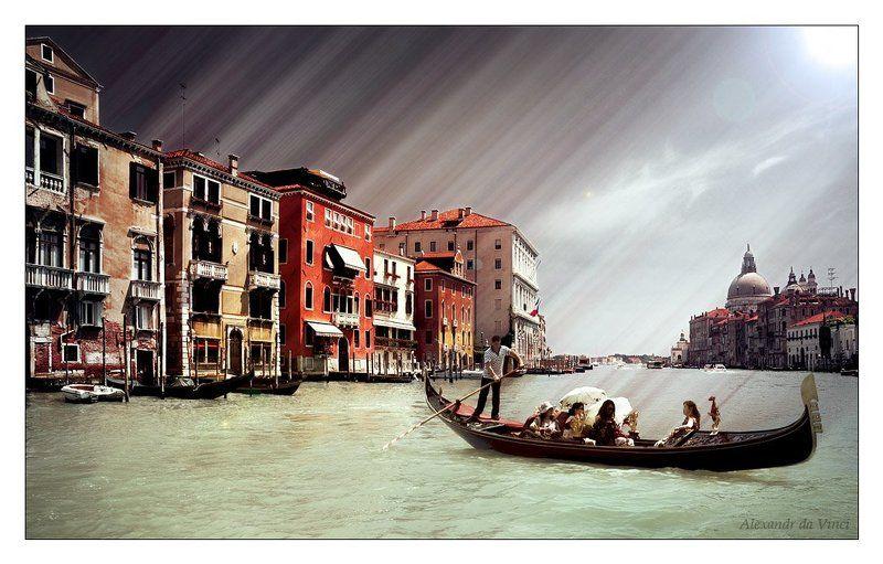 италия, венеция, гандола, гандольер Венецианские зарисовкиphoto preview