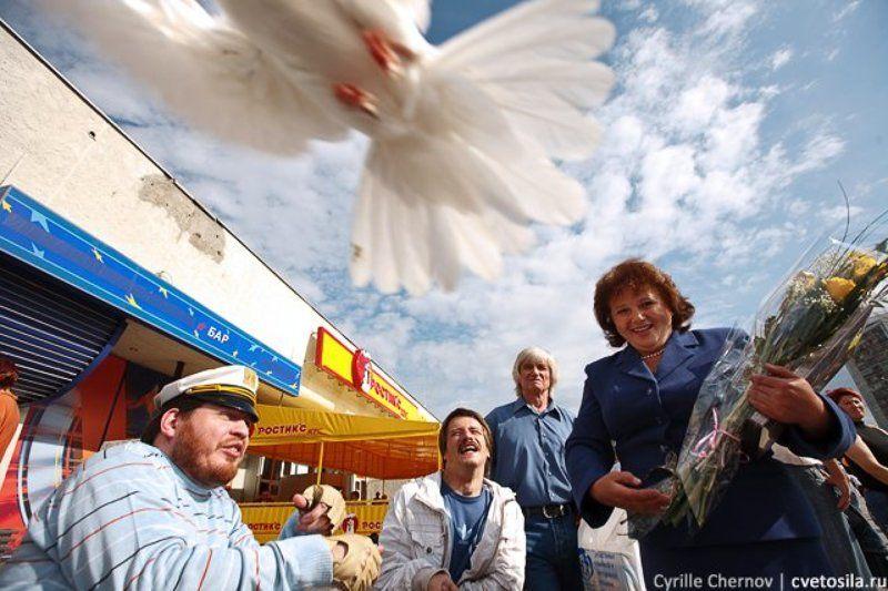голубь, день семьи, зеленорад, репортаж, праздник, :) Любовь и голубиphoto preview