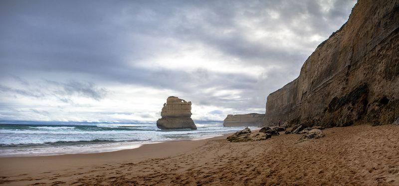 Австралия, Берег, Виктория, Море, Океан, Панорама, Пейзаж, Скалы На берегу Океанаphoto preview