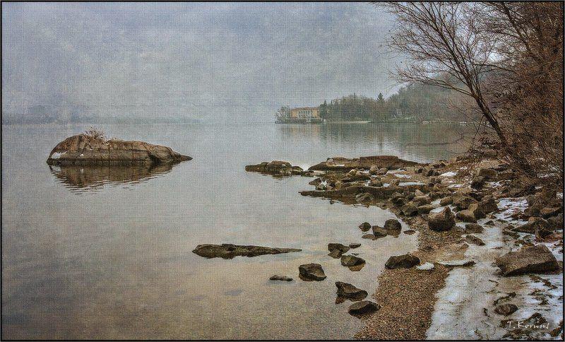 река,зима,туман photo preview