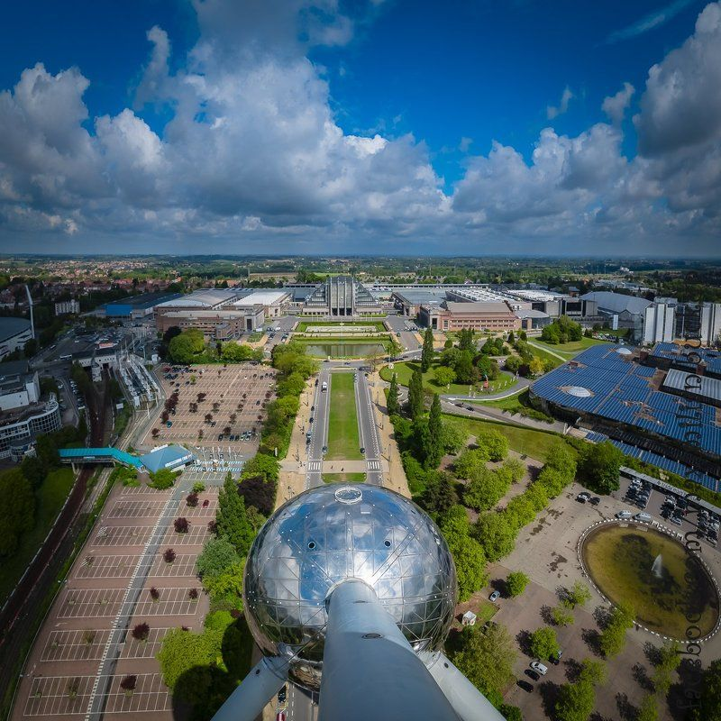 Atomium, Архитектура, Атомиум, Бельгия, Брюссель, Город, Небо Atomiumphoto preview