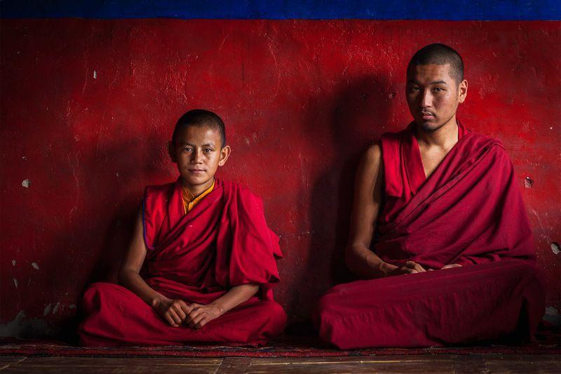 монахи, буддизм, нубра, ладакх, индия Взглядыphoto preview