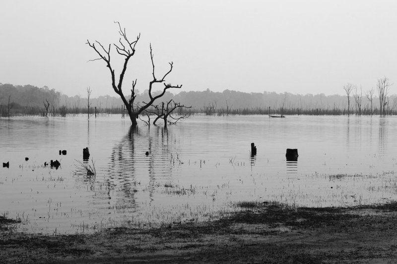 лаос, азия, чб, река, вода, отражение Лаосская глубинка: деревня Талангphoto preview