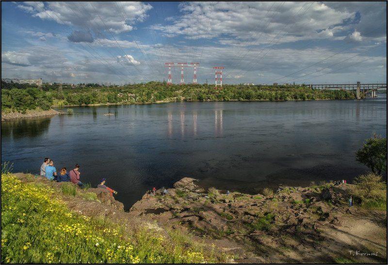 река,днепр,запорожье,отдых,хортица Созерцаниеphoto preview