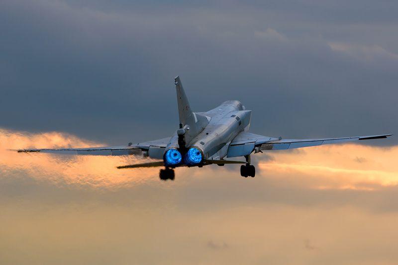 Бомбардировщик, ВВС, Вечер, Взлет, Закат, Ту-22м3, Туполев, Форсаж Take OFFphoto preview