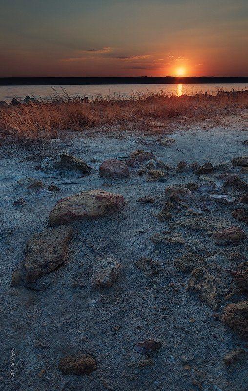 Закат, Куяльник, Лиман, Одесса Закатный Куяльникphoto preview