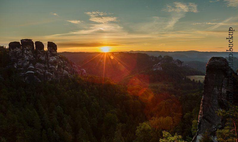 Восход, Германия, Саксония, Утро утренние зарисовки на Bastei...photo preview