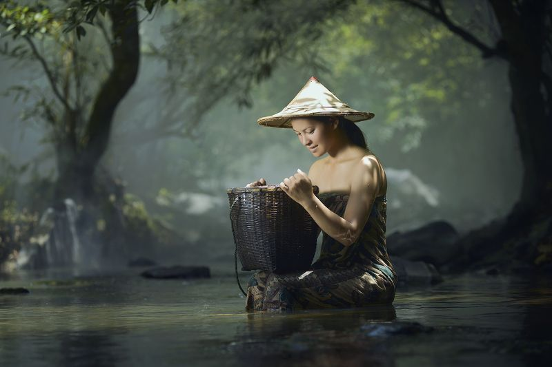 Asia, Asian, Beautiful, Beauty, Culture, Cute, Girl, Light, Photo, Photography, Portrait, River, Thai, Thailand, Woman Asian girlphoto preview