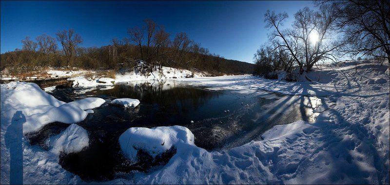 московская область, луховицкий район, река осетр, берхино, зима Морозная свежестьphoto preview