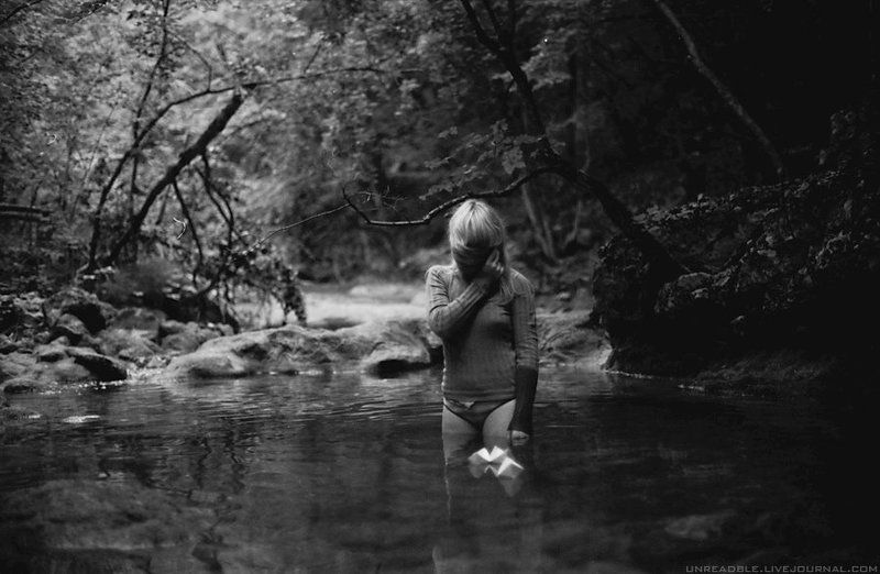 lake, girl, origami, forest oriGamiphoto preview